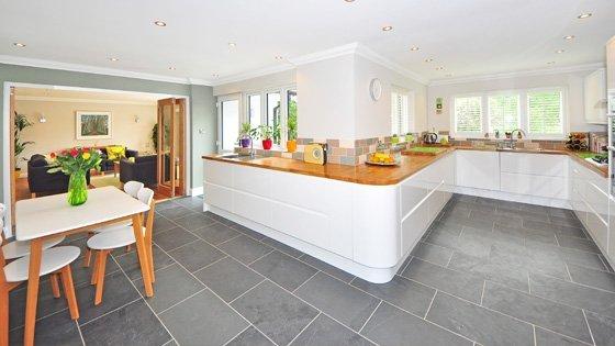 grey tiles flooring