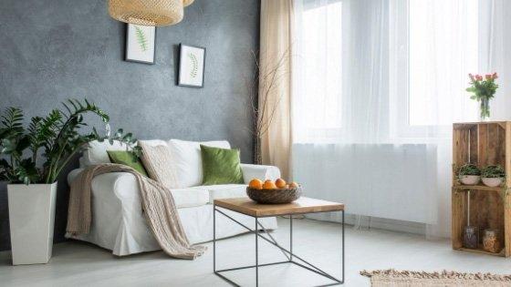 grey laminate floor in living room