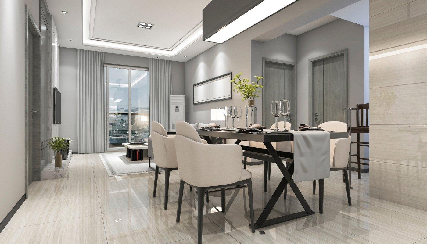 porcelain-tiles-in-diining-room